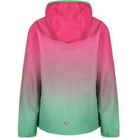 Regatta Anodize Softshell Jacket Kids Hot Pink/Island Green